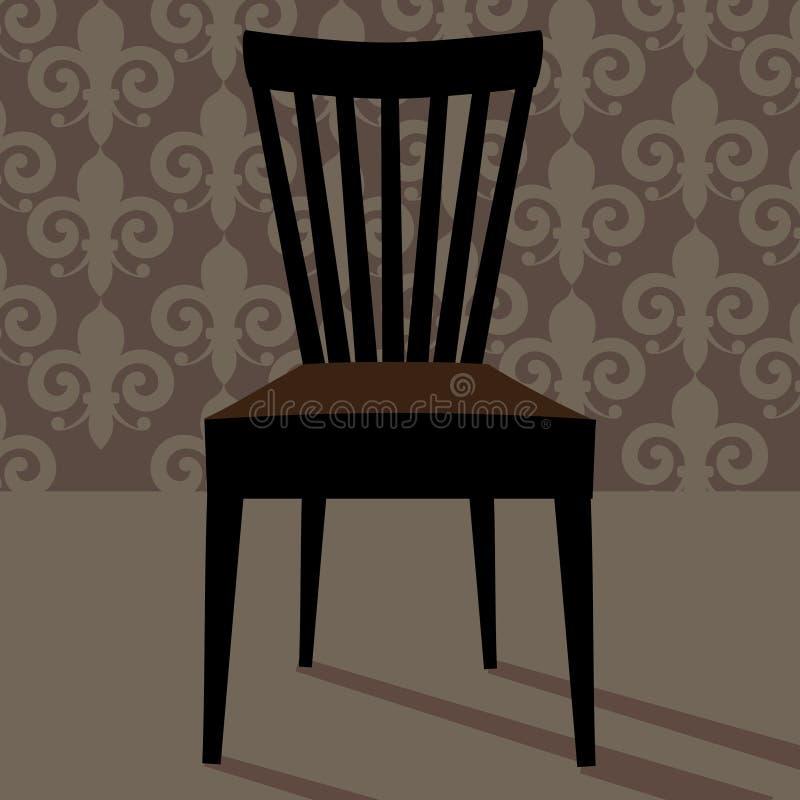 平的在她的椅子的设计白色奇瓦瓦狗 皇族释放例证