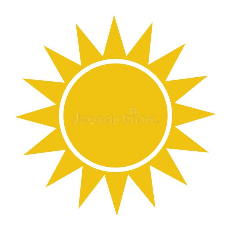 平的太阳象 太阳图表 模板传染媒介例证 向量例证