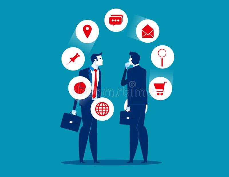 平的字符配合 看企业的队和分析事务 概念企业困境传染媒介例证 平的事务 皇族释放例证