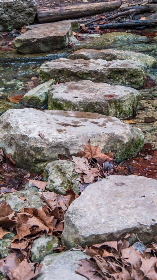平的岩石河流桥渡道路横跨河小河的水的 图库摄影