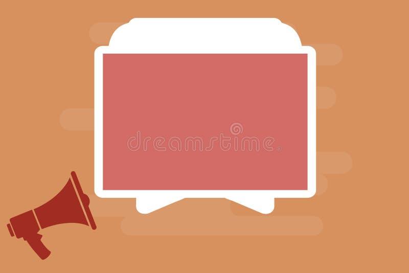 平的广告网站的设计企业传染媒介例证概念空的模板拷贝空间文本特别是隔绝了等量的3d 库存例证
