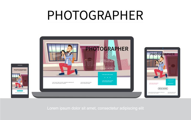 平的摄影现代概念 皇族释放例证