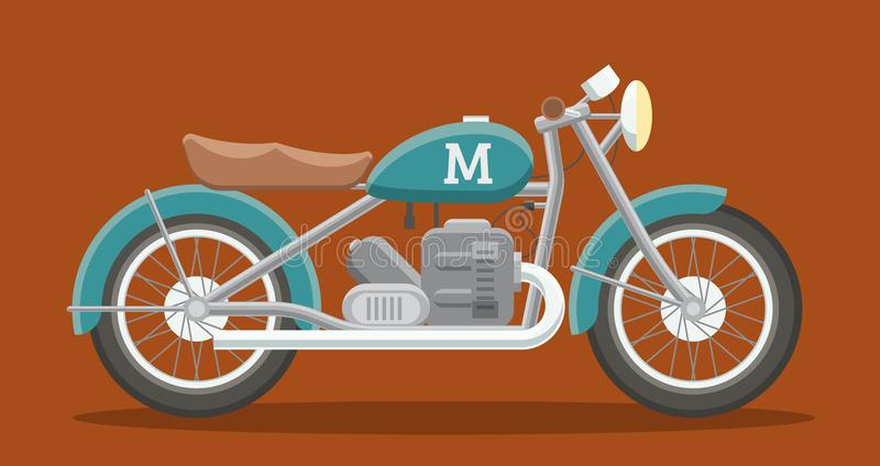 平的摩托车图象 皇族释放例证