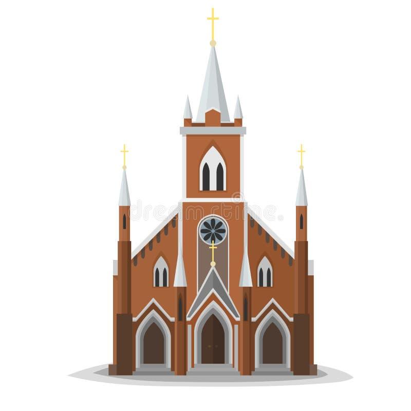 平的教会 向量例证