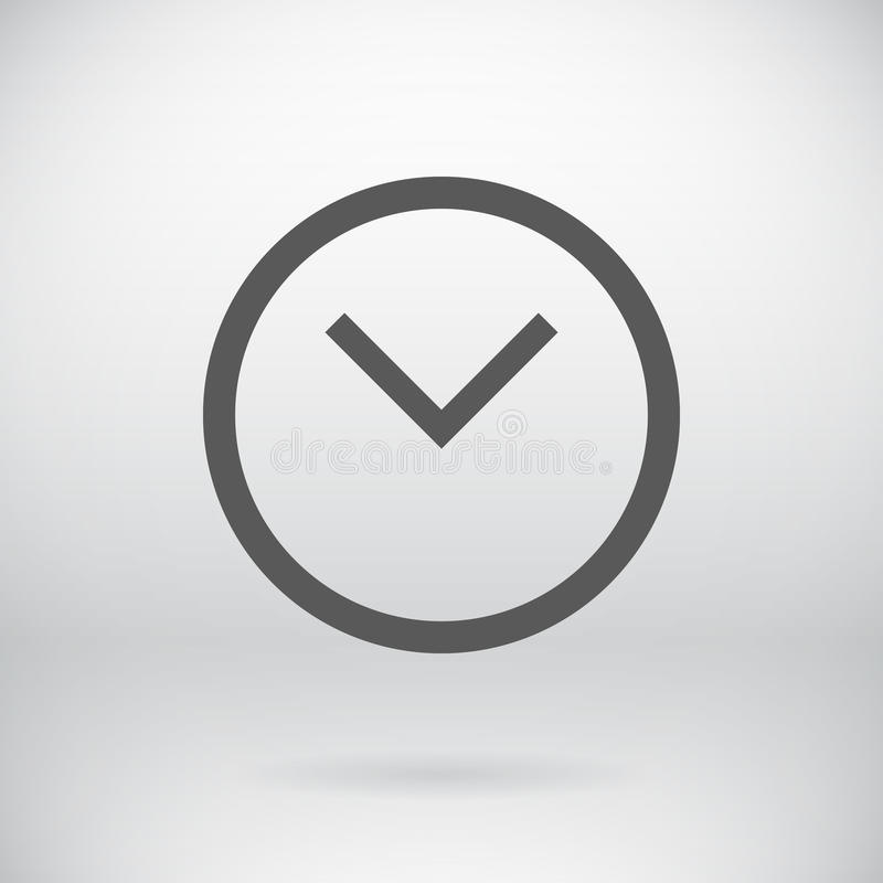 平的时钟标志传染媒介手表标志背景 向量例证