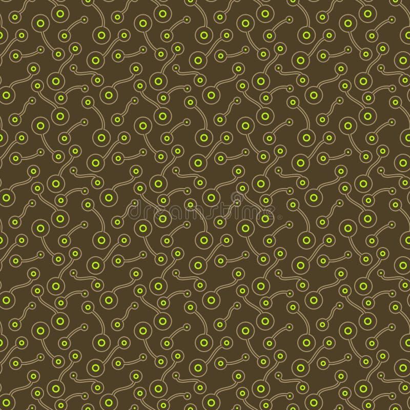 平的明亮的抽象生物元素 纺织品的,印刷品,墙纸简单的手拉,被加点的,减速火箭的舒适装饰品,包裹 皇族释放例证