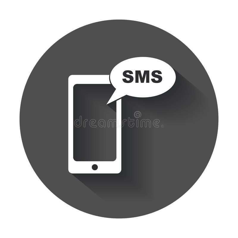 平的智能手机象 Sms消息 皇族释放例证