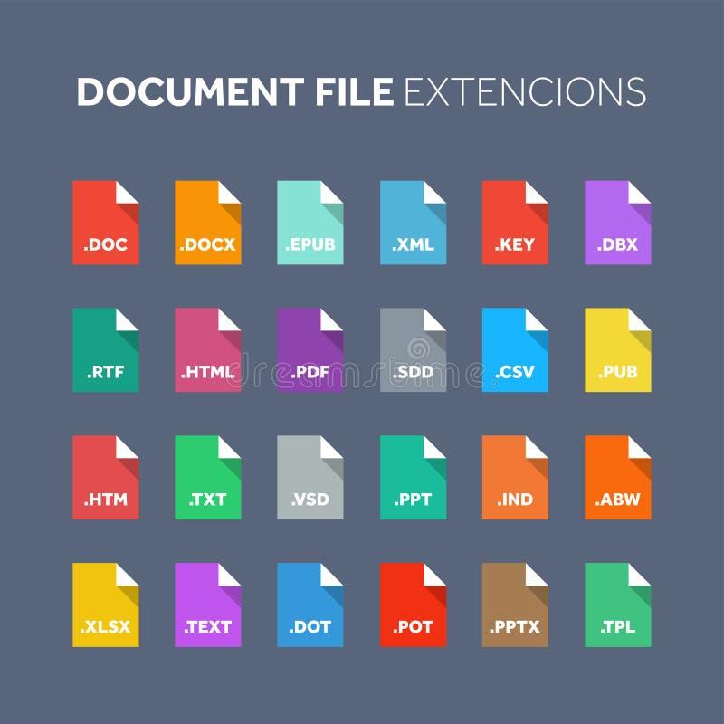 平的样式象集合 原始代码,程序文件类型,引伸 文件格式 图表 网和多媒体 皇族释放例证