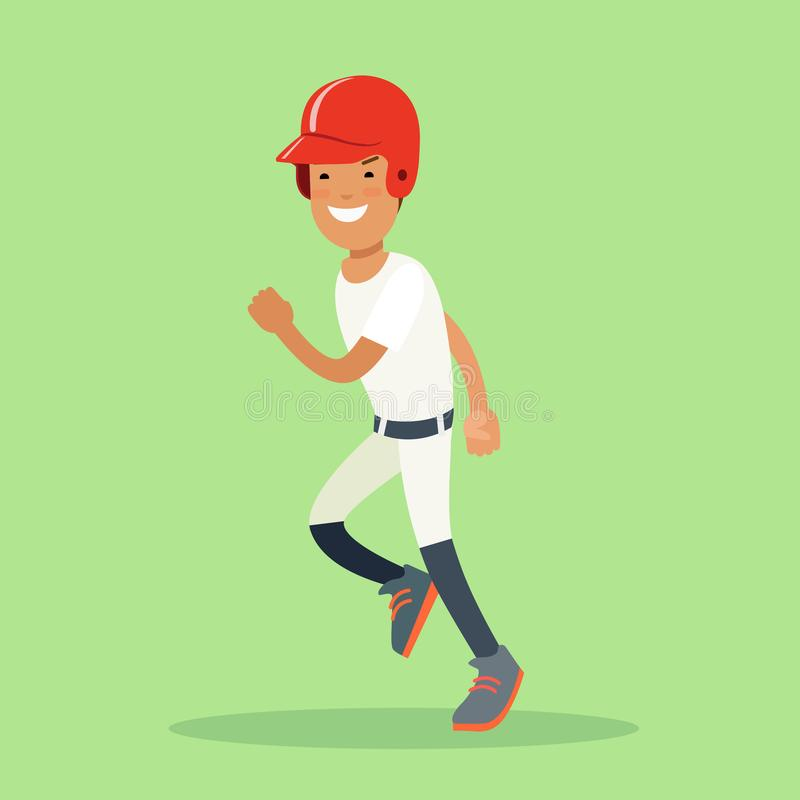 平的棒球运动员运动员 面团hitt 皇族释放例证