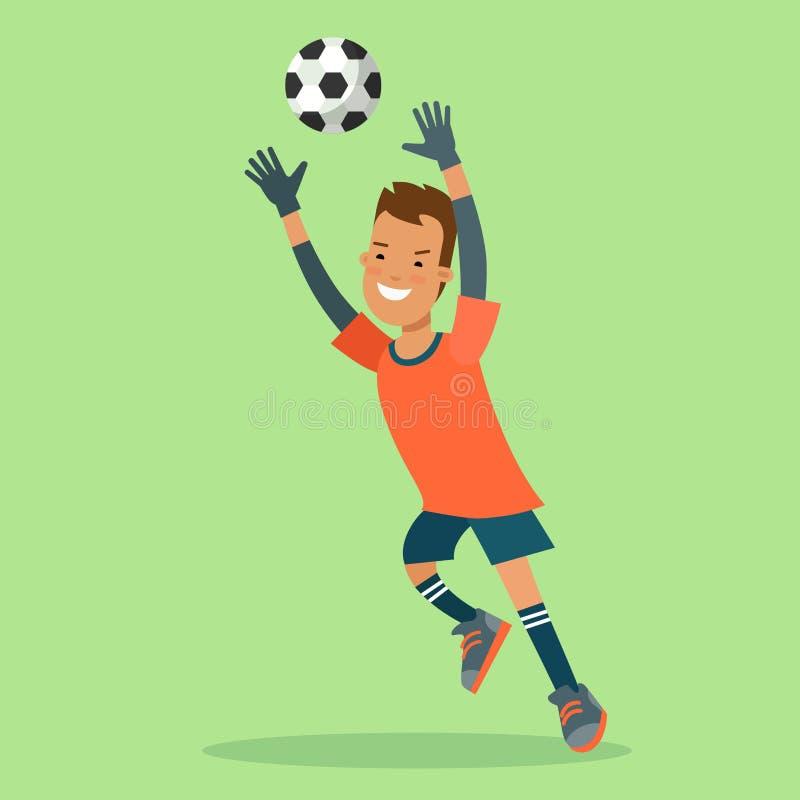 平的橄榄球足球守门员目标球跃迁vec 皇族释放例证