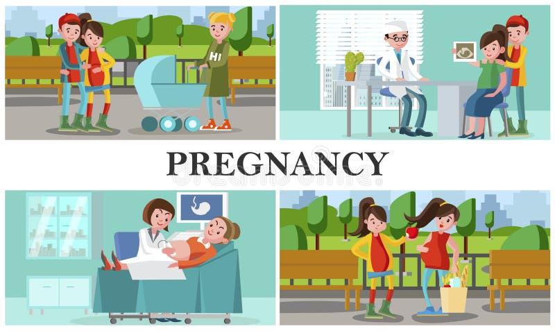 平的母道和怀孕构成 皇族释放例证