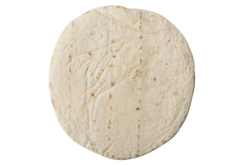 平的玉米粉薄烙饼 免版税图库摄影