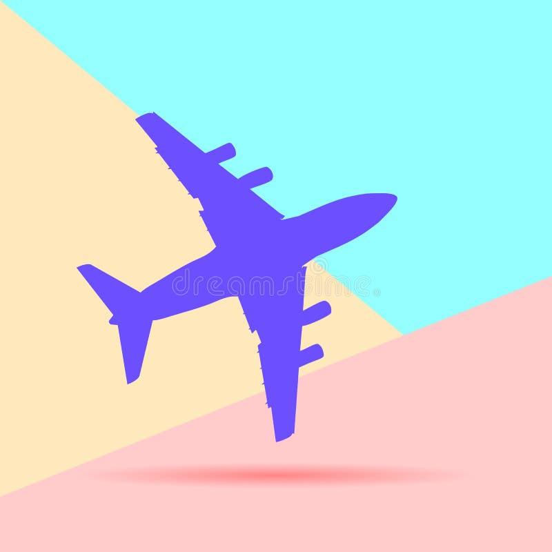 平的现代飞机剪影的艺术设计图表图象在p的 向量例证
