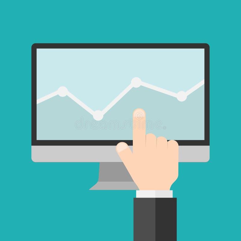 平的现代企业网络设计和流动应用优化 库存例证