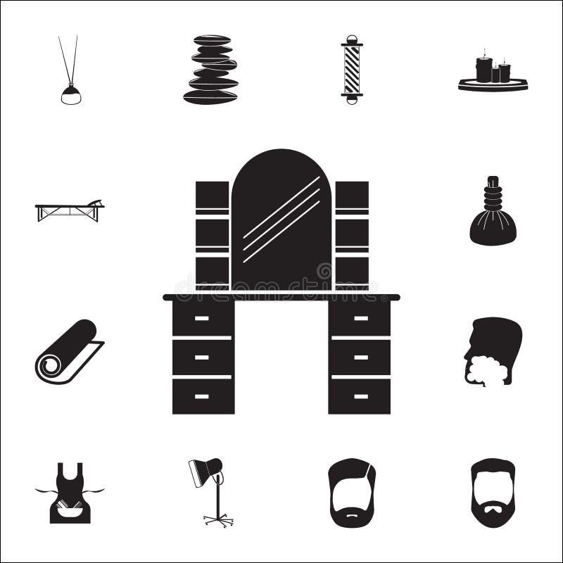 平的理发店象 详细的套理发师象 优质质量图形设计标志 其中一个网站的汇集象, 皇族释放例证
