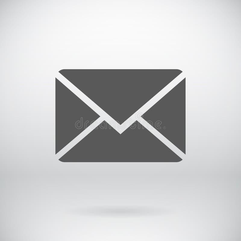 平的电子邮件标志传染媒介泡影标志 库存例证