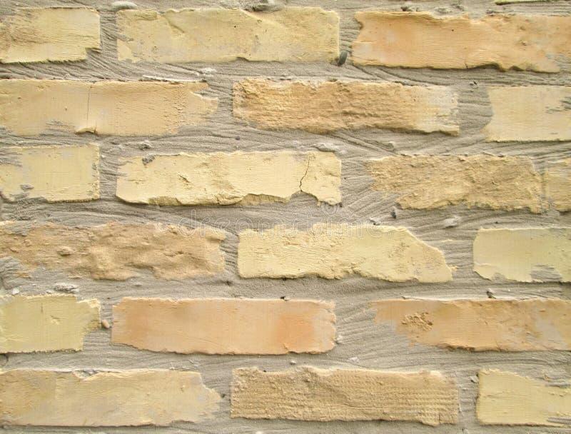 平的砖墙 库存图片