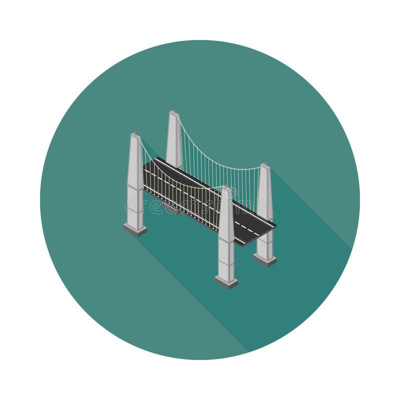 平的等量缆绳停留了桥梁 皇族释放例证