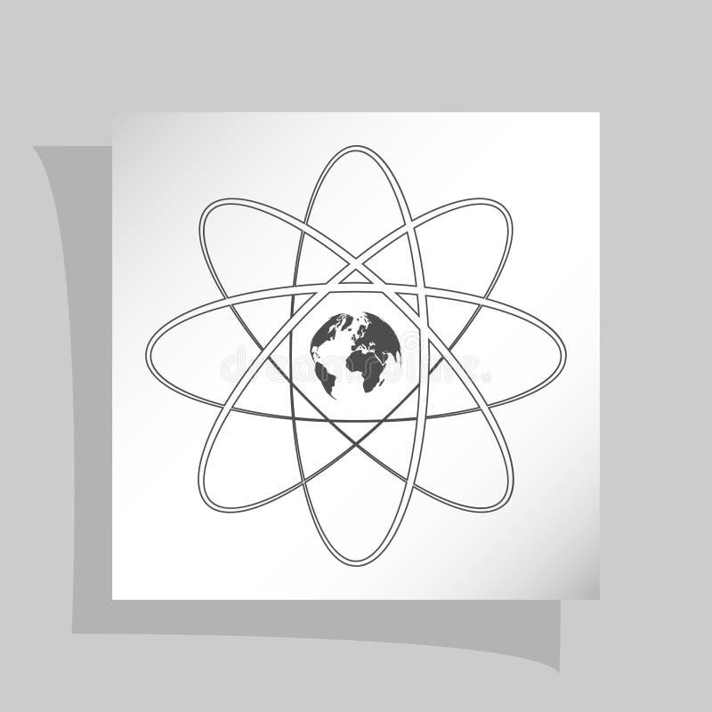 平的纸削减了科学标志样式象