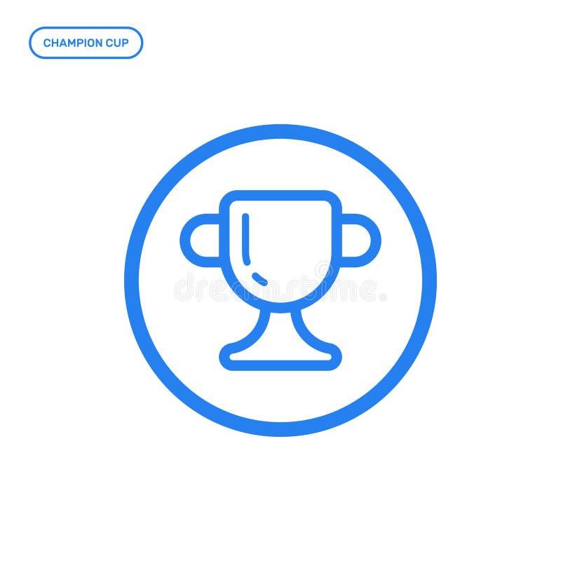 平的线象的传染媒介例证 奖杯子的图形设计概念 向量例证