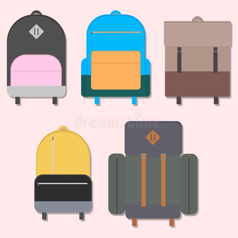平的背包 库存例证