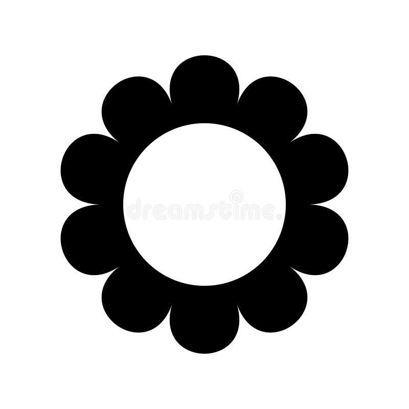 平的花象在白色现出轮廓隔绝 逗人喜爱的减速火箭的设计 雏菊商标 向量例证