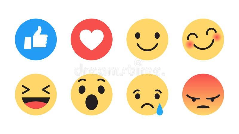 平的设计传染媒介现代Emoji 向量例证