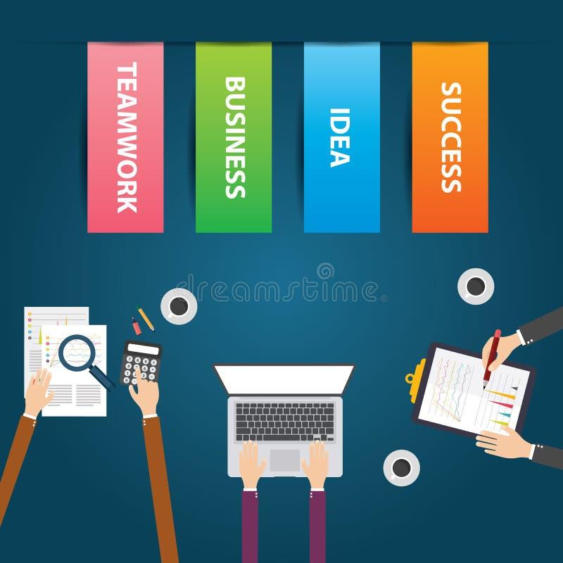 平的设计传染媒介例证企业配合 库存例证