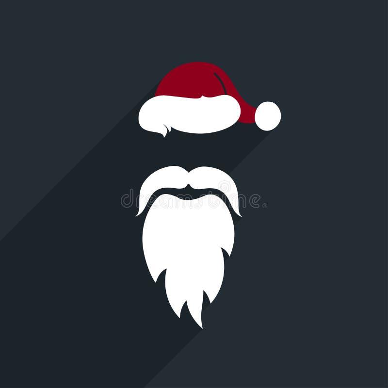 平的设计传染媒介圣诞老人面对。象。 向量例证