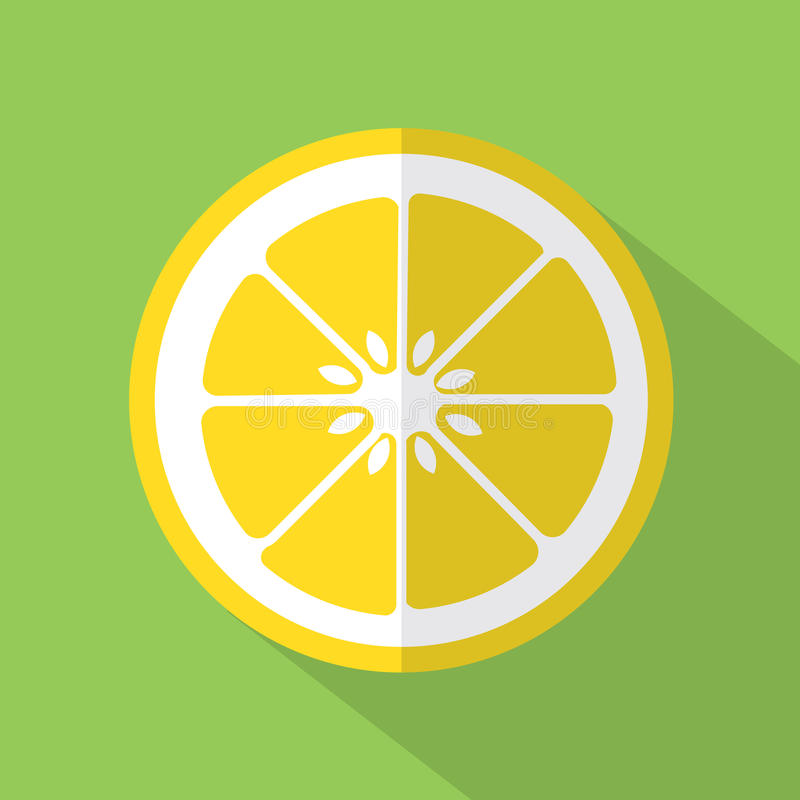 平的设计柠檬象 库存例证