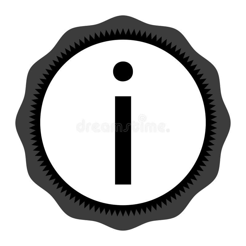 平的设计样式信息标志在手边象,例证 向量例证