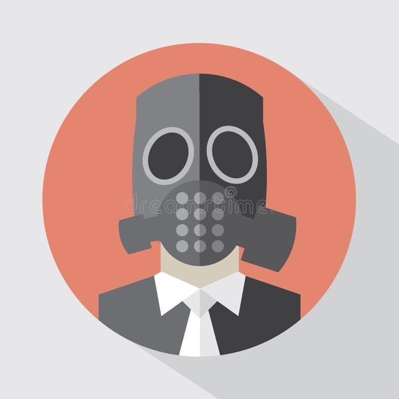平的设计毒气面具 向量例证