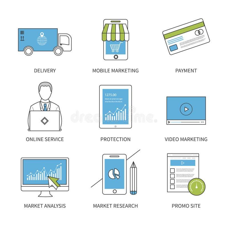 平的设计现代传染媒介例证概念为 库存例证