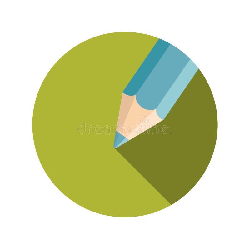 平的设计观念铅笔传染媒介例证 库存例证