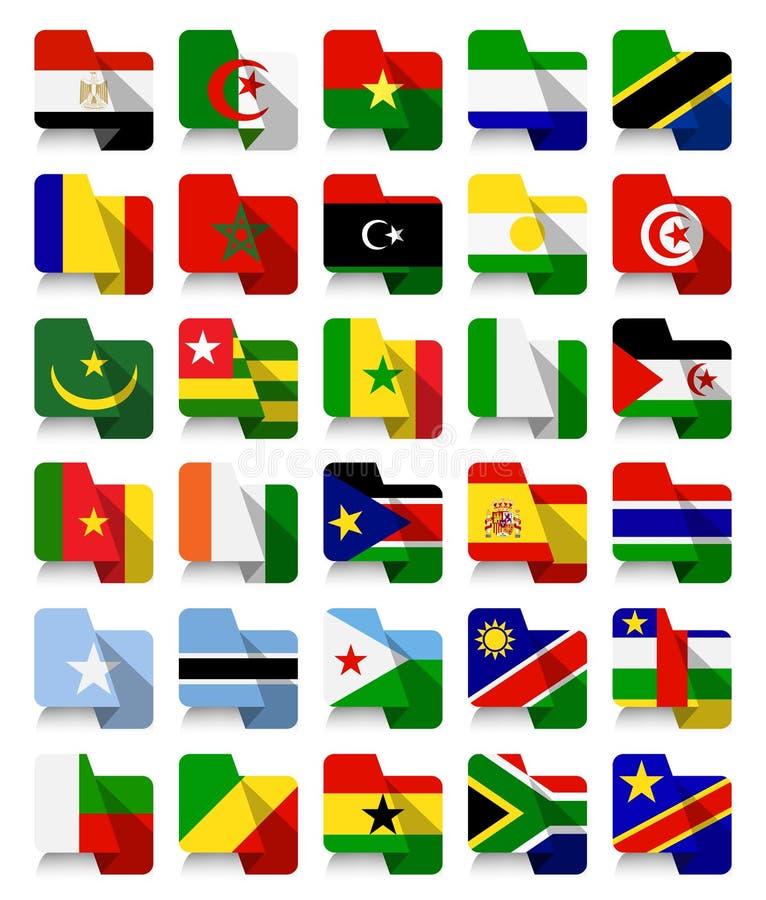平的设计非洲挥动的旗子 皇族释放例证