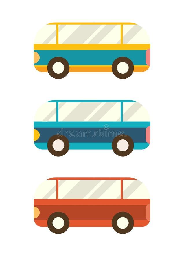r 设置简单的公共汽车 向量例证