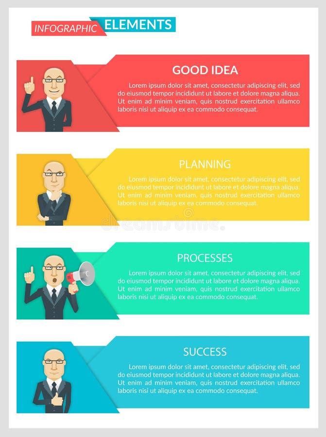 平的设计Infographic企业模板 库存例证