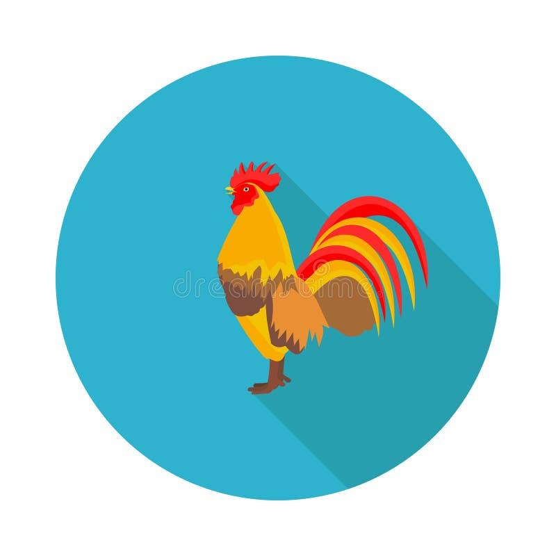 平的象公鸡 向量例证