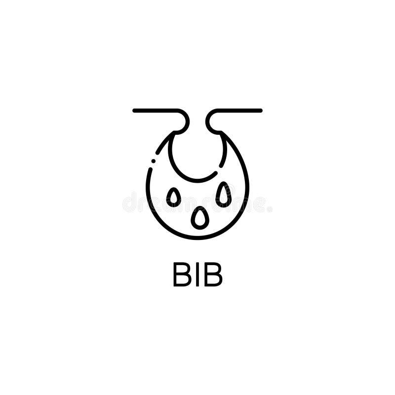 围嘴平的象或商标网络设计的 向量例证