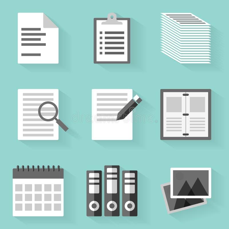 平的象集合 纸 空白样式 向量例证