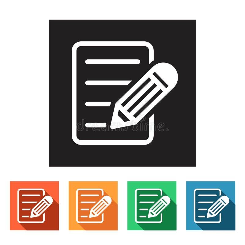 平的象(组织者、笔记薄,笔记本), 向量例证