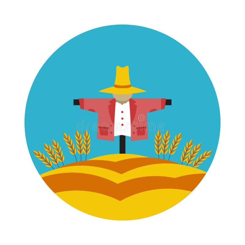 平的象稻草人 免版税库存照片