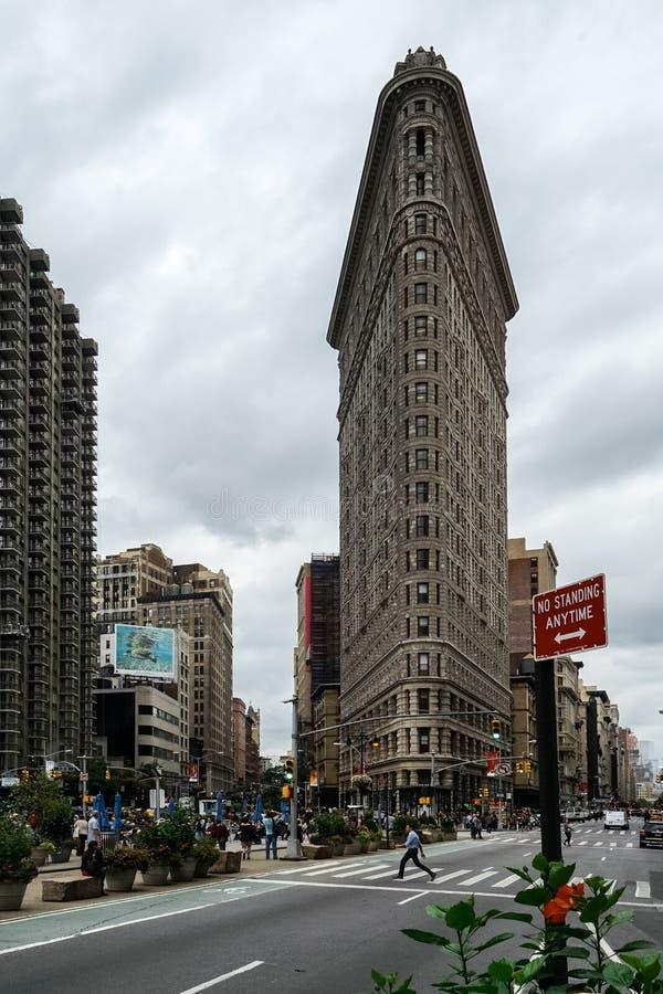 平的铁在纽约美利坚合众国 免版税库存照片