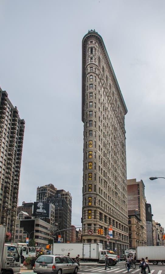 平的铁大厦在纽约,美国 库存图片