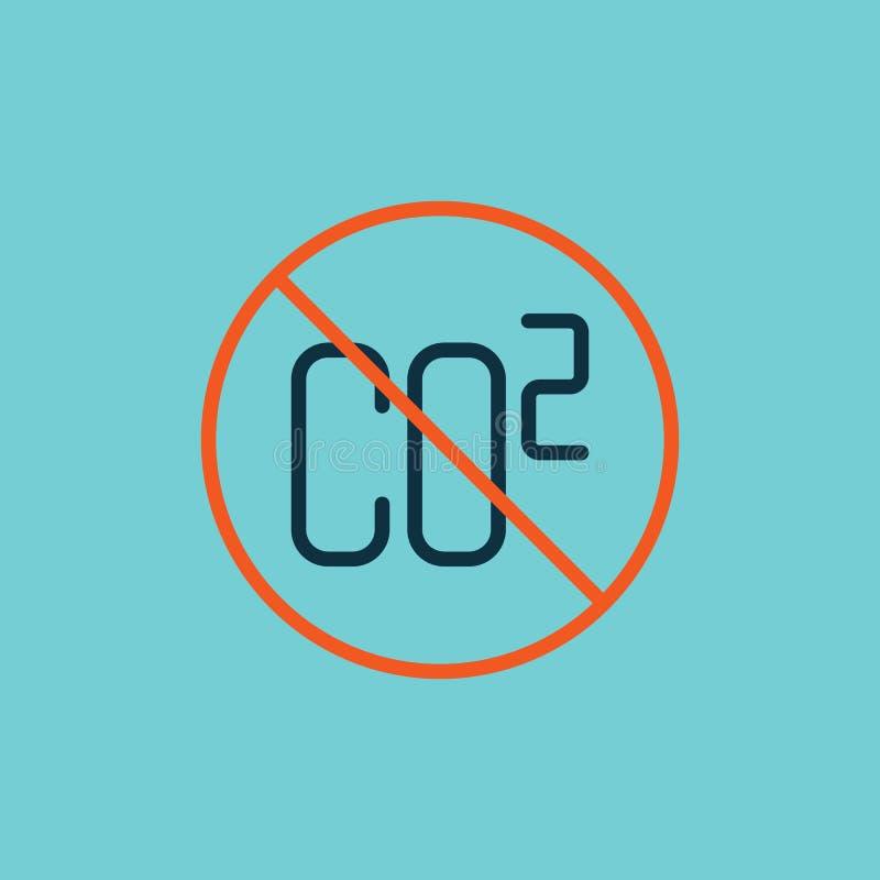 平的颜色二氧化碳被禁止的标志 皇族释放例证