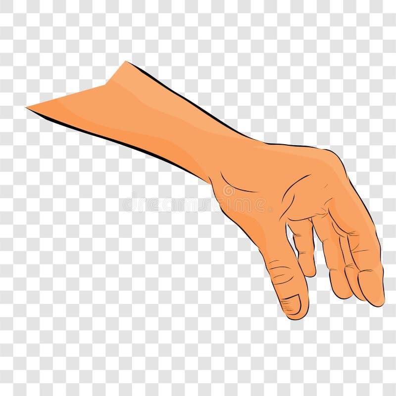平的颜色简单的剪影精选或劫掠某事,在透明作用 向量例证