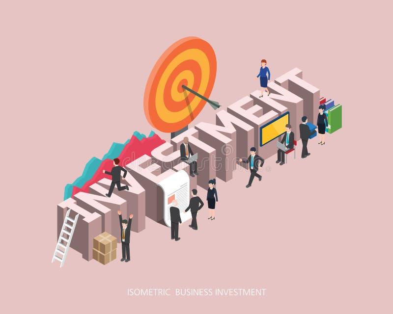 平的3d等量例证投资构思设计,抽象都市现代样式,优质企业系列 向量例证