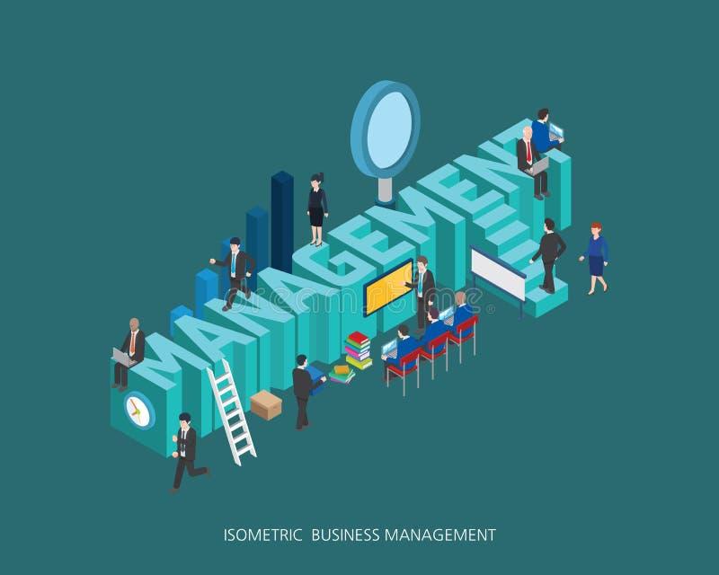 平的3d等量例证管理构思设计,抽象都市现代样式,优质企业系列 库存例证