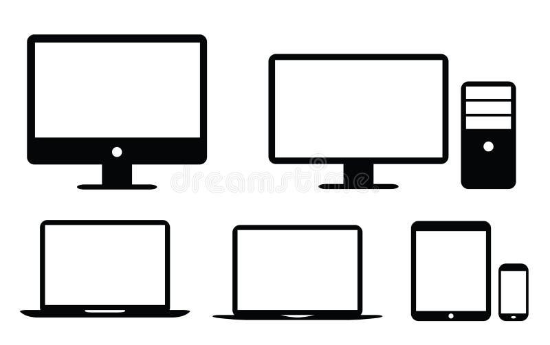 黑平的UI设计元素象传染媒介eps10 皇族释放例证