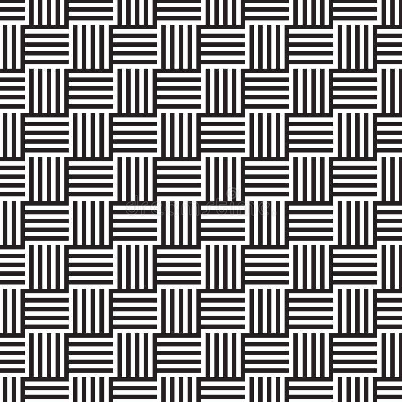 平直的几何线被装配入正方形 库存例证